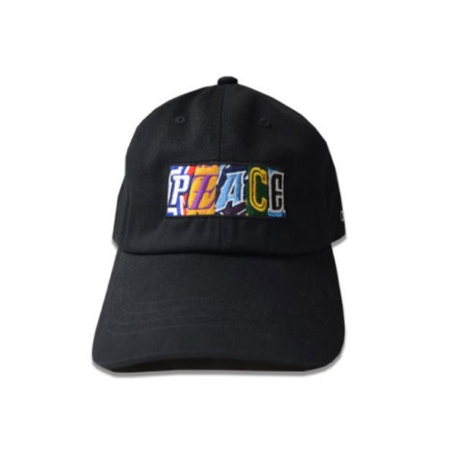 PEACE EMBROIDERY CAP BLACK