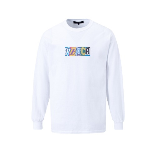 PEACE PRINT LOMG SLEEVE T-SHIRTS WHITE